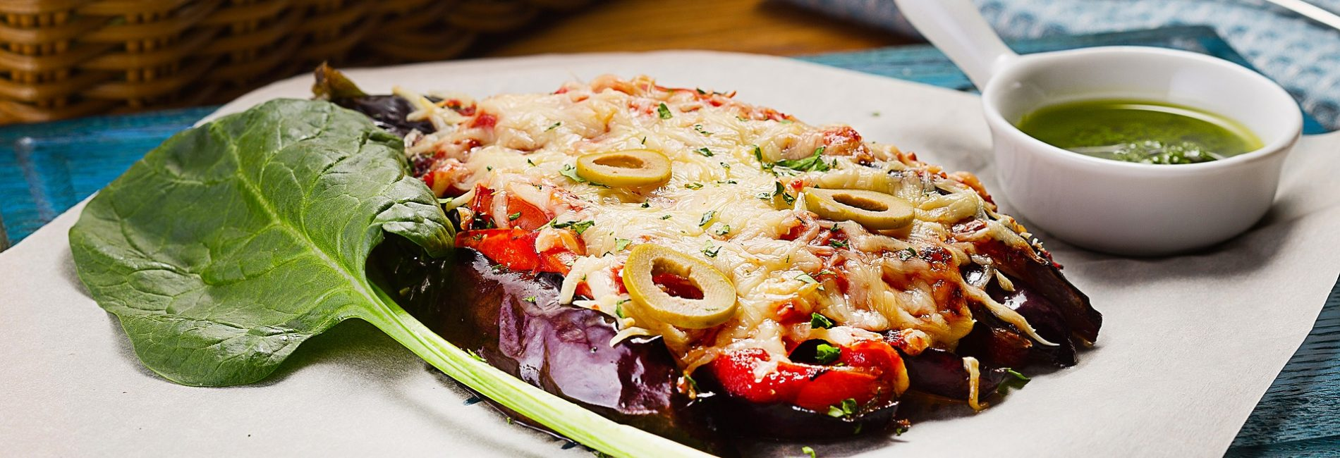 Aubergine pizza : pizza sans gluten !